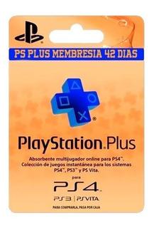 Ps Plus Membresias Por 42 Dias (playstation) No Acumulables