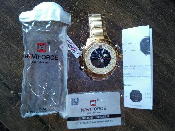Relógio Naviforce Nf 9093m Gold