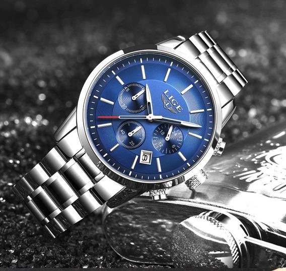 Relógio Pulso - Lige - Original - 43mm