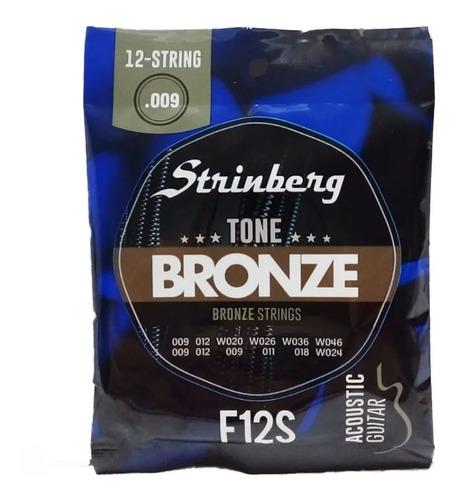 Imagem 1 de 4 de Encordoamento 12 Cordas Violão Strinberg Aço F12-s Bronze