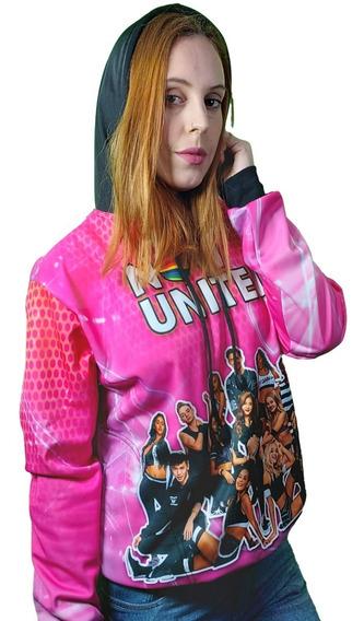 Moletom Now United Infantil Feminino Blusa Banda Pop 0001