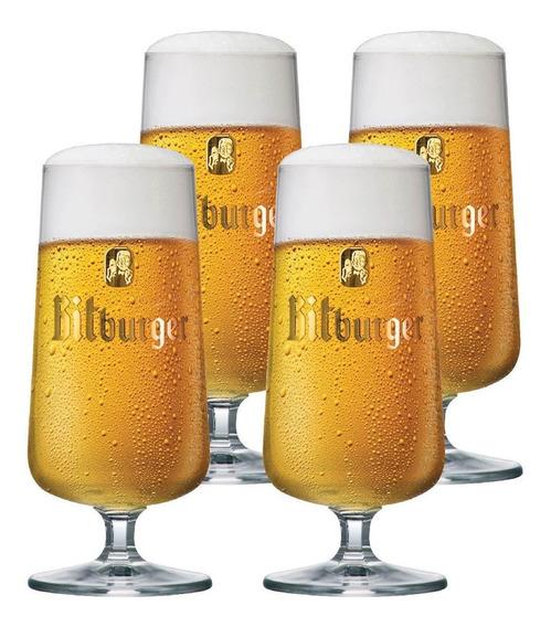 Taça Cerveja Cristal Cerv. Mundo Bitburger 370ml - 4 Pçs