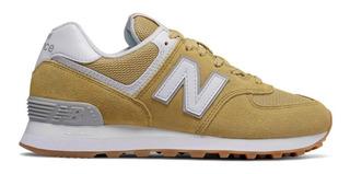 new balance 574 hombres zapatillas amarillas