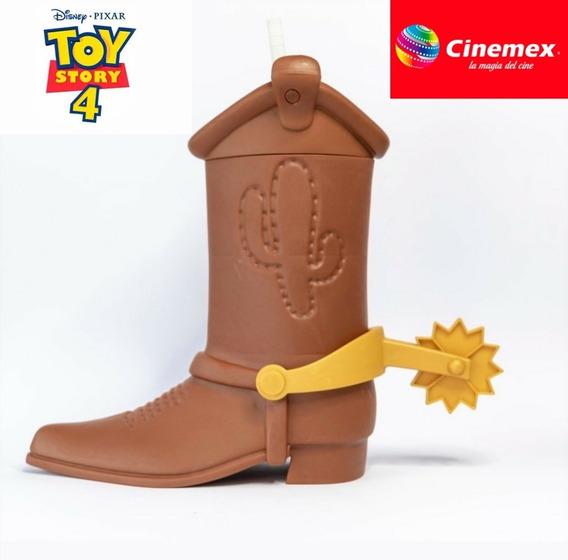 Toy Story 4 Vaso Bota Cinemex Woody