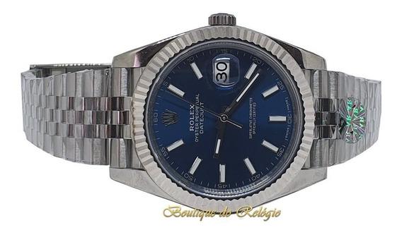 Relógio Eta - Modelo Datejust Dial Azul Arf Sh3255 - Aço 904