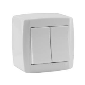 Conjunto Slim Box 2teclas Ilumi Kit C/10un