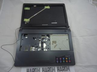Carcaça Completa Megaware Meganote Kripton K Usada C/ Marcas