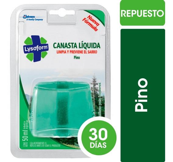 Lysoform Canasta Líquida Pino X50ml - 6 Repuestos
