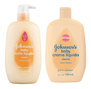 Crema Humectante + Baño Liquido Johnsons Avena X 400gr