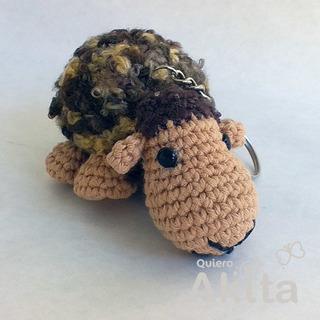 Oveja Gara - Llavero - Tejida A Crochet - Amigurumi