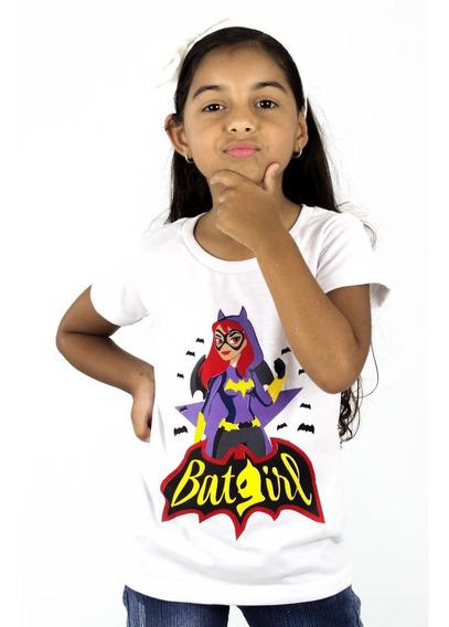 Franela Niña Blanco Batman Estampada Detal Mayor Oferta