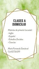 Clases De Escuela A Domicilio.