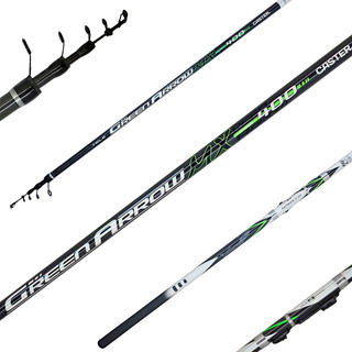 Caña Telescopica Pejerrey Caster Green Arrow 4m Carbono Im7