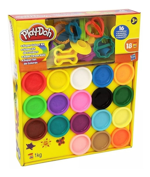 Súper Color Kit Play Doh Con 18 Latas Y 16 Accesorios Oferta