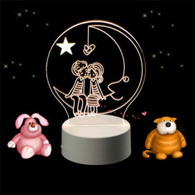 Acrílico Noite Pequeno Led Acrílico 3d Luzes Luz Noturna Col