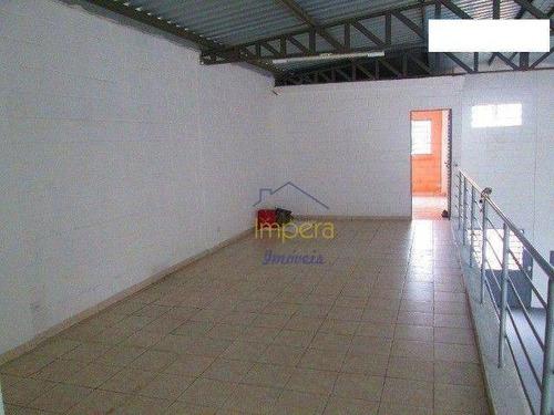 Imagem 1 de 9 de Galpão Para Alugar, 300 M² Por R$ 4.900/mês - Chácaras Reunidas - São José Dos Campos/sp - Ga0013