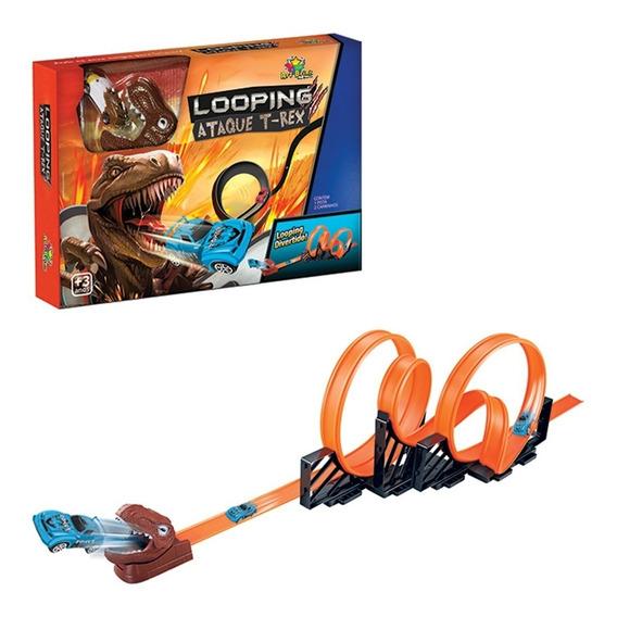 Pista Infantil Looping 360º Tipo Hot Wheels + 2 Carrinhos