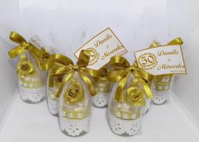 Lembrança Garrafinha Rech. Bodas De Ouro - Kit C/ 20 Peças