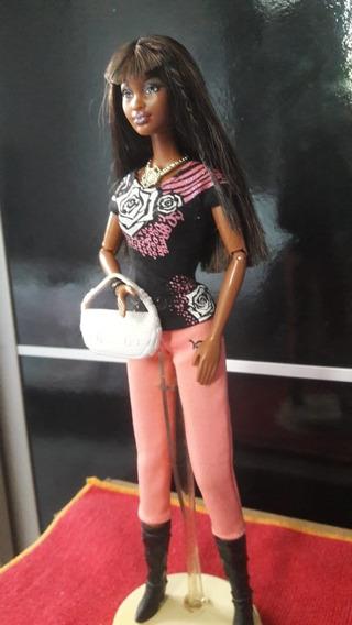 Boneca Barbie Negra Modelo Colecionador Rara