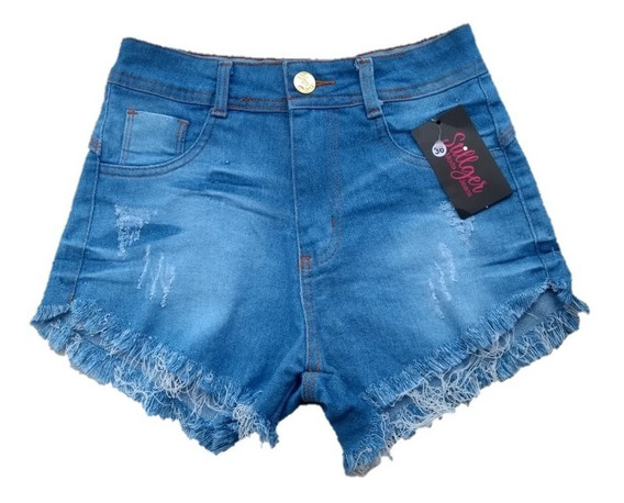 Shorts Jeans Feminino Destroyed Hot Pants Estilo Anitta