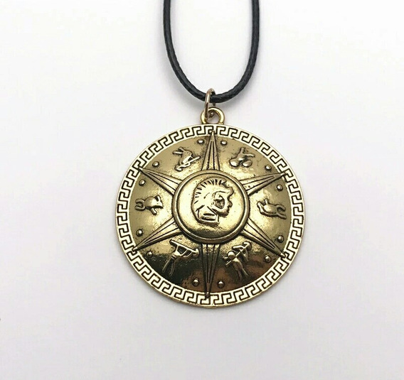 Colar Percy Jackson E O Mar De Monstros Escudo Cor Bronze