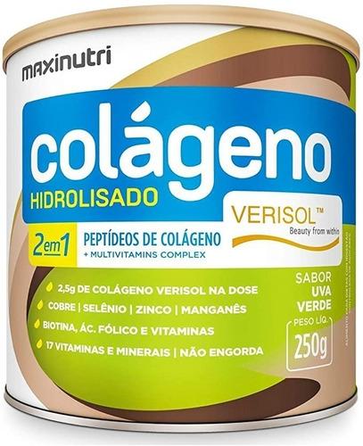 Imagem 1 de 3 de Colágeno Verisol Uva Verde  2em1 250g - Maxinutri
