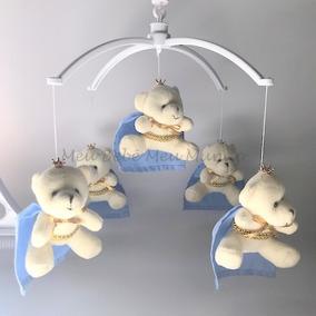 Móbile Musical Ursinho Urso Príncipe Ou Ursinha Para Bebê