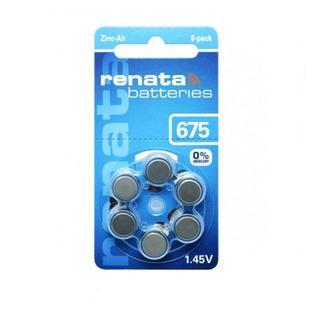 Pilas Renata N675 Audifonos Blister Color Azul Audiologia