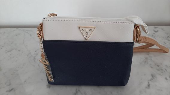 Bolsa Guess Feminina 100% Original Importada Azul E Branco