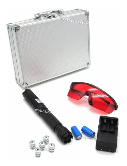 Laser Pointer Azul Torch 30.000mw + Maleta E Óculos Proteção
