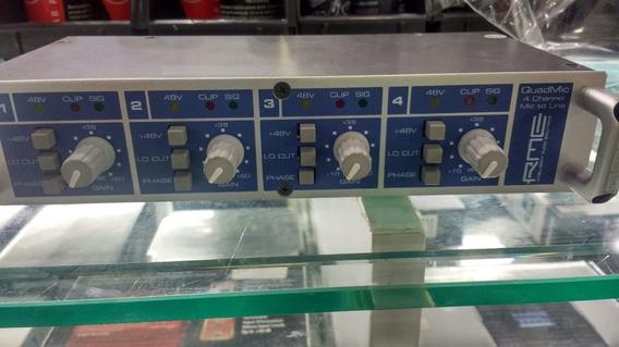 Rme Quadmic Preamp Quad Mic Audio Profissional