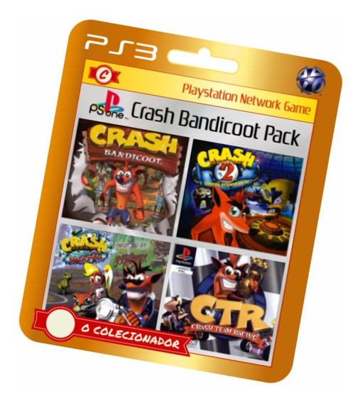 Crash Bandicoot 1+2+3 + Racing Ps3 Pacotão!!