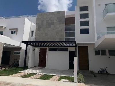 Casa Preventa Aqua Cancún 3 Recámaras Con Baño Y Closet
