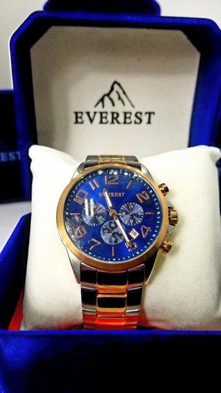 Everest Relógio Masculino Aço 20 Á Prova D´agua C Garantia1
