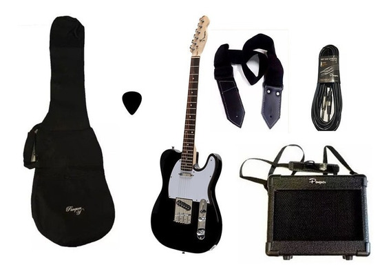 Combo Guitarra Electrica Parquer Telecaster Bk Amp 5w Cuota