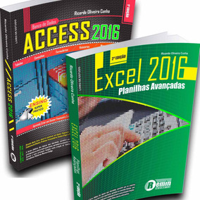 Livros Combo - Excel 2016 + Access 2016 + Curso On-line
