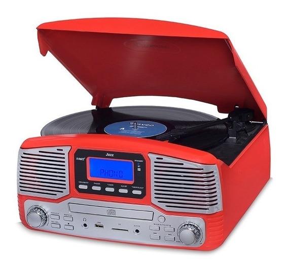 Vitrola Raveo Jazz Harmony Bluetooth/cd/fm/usb Vermelho