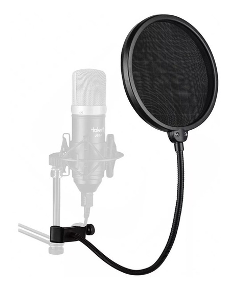 Pop Filter Anti Puff Ruido Espuma Microfone Condensador