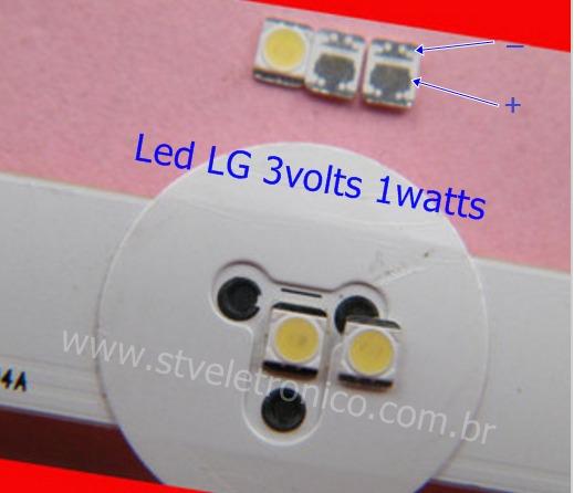 Kit10 Led 2835 Tv Lg 32 39 47 50 55 -la/ln 3v 1w Frete 9,00