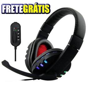 Fone De Ouvido Gamer Headset Microfone Usb Pc Jogos Xbox Ps4