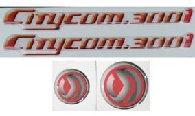 Kit Emblema Adesivo Resinado Alto Relevo Dafra Sym Citycom