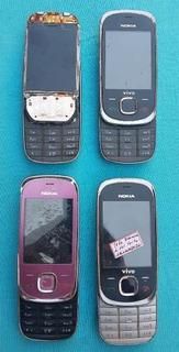 Lote Com 4 Celulares Nokia 7230 (leia A Descrição)