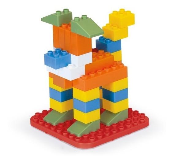 Monta Blocos 84 Pçs Brinquedo Educativo Peças De Encaixe