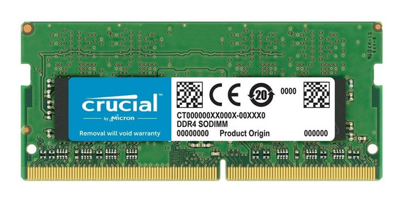 Memoria Sodimm Crucial Ddr4 16gb 2666mhz Notebook 1.2v Cl19
