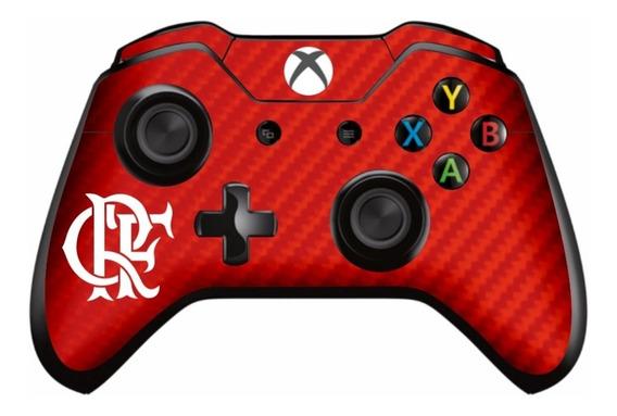 Flamengo - Adesivo Skin Controle Xbox One Carbono Vermelho