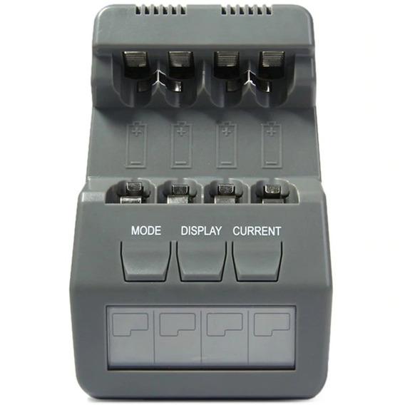 Carregador Digital Pilhas Inteligente Aa Aaa Opus Bt-c700