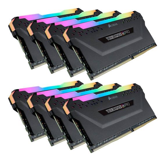 Memoria Ram 128gb Corsair Vengeance Rgb Pro (8x16gb) Ddr4 3600 (pc4-28800) C18 Black