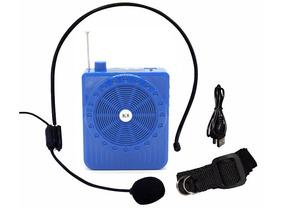 Amplificador De Voz Portátil Megaphone Kit Professor Azul