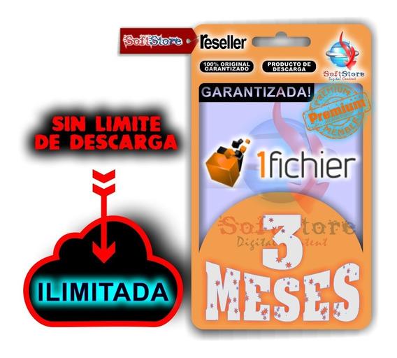 Cuenta Premium 1fichier 3 Meses (ilimitada!)