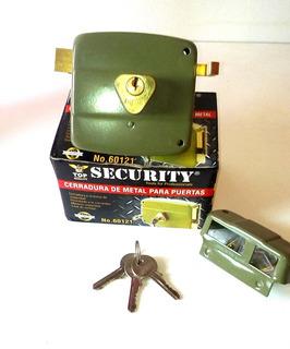 Cerradura Verde C/cilindro Fijo Metal (security)